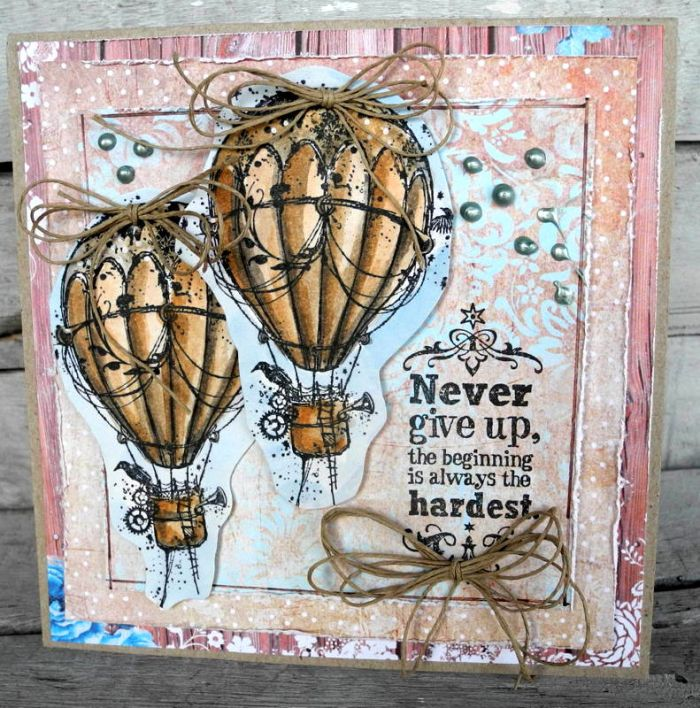 Never give up - Pia Baunsgaard - Stempelglede :: Design Team Blog