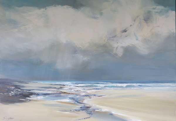 "Jenny Hirst ~ ""Holkham beach"" ~ Acrylic on Canvas"