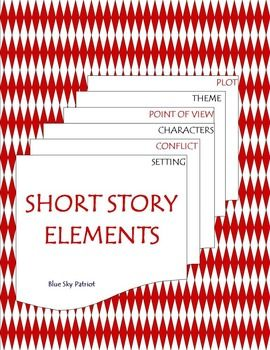 This 2-page Short Story Elements Resource includes a graphic organizer for students to complete with either definitions of each element in their own words or for students to complete after reading a short story. The 2nd graphic organizer is completed with explanations of each: setting, conflict, characters, point of view, theme, and plot.