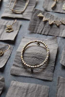 Brass jewelry by Seiko OBARA, Japan  nice presentation