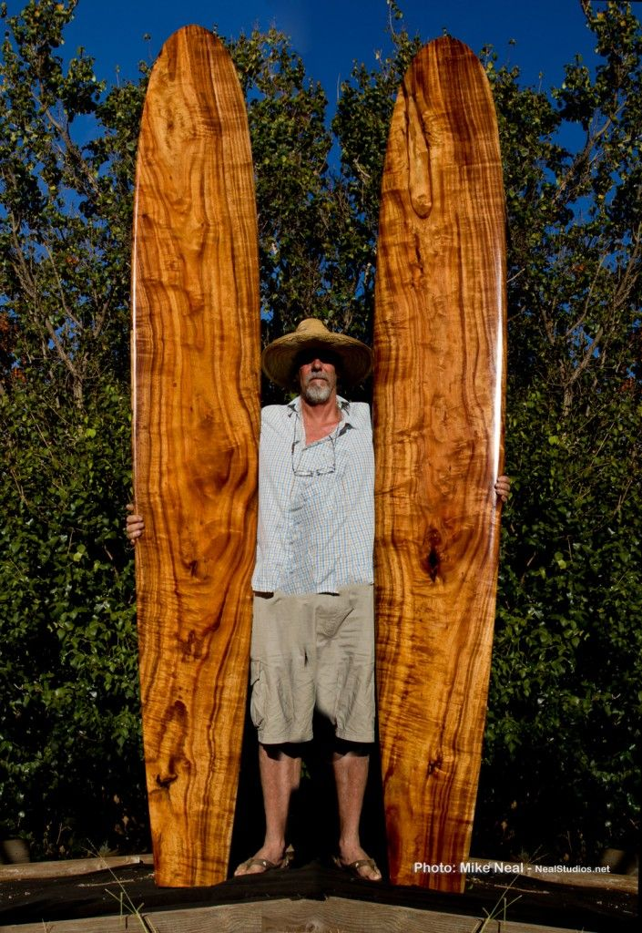 koa surfboard