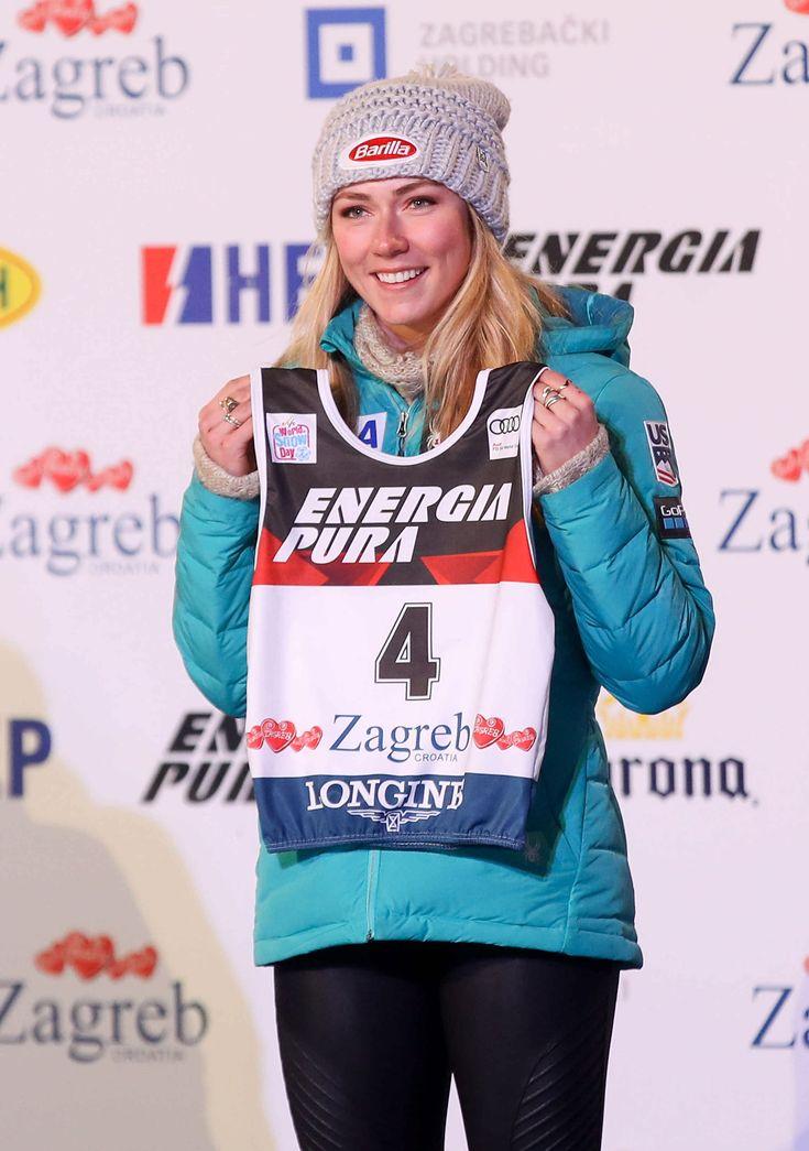 Mikaela Shiffrin  #MikaelaShiffrin ALPINE SKIING  FIS World Cup ladies bib draw in Zagreb http://ift.tt/2CyPefq