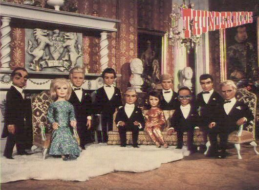 Thunderbirds ~ The Tracy Family ~ UK stringed puppet tv show of the 70's