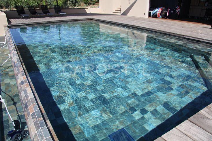 Pierre Verte Piscine With Images Pool Tile Swimming Pool Tiles Stone Pool