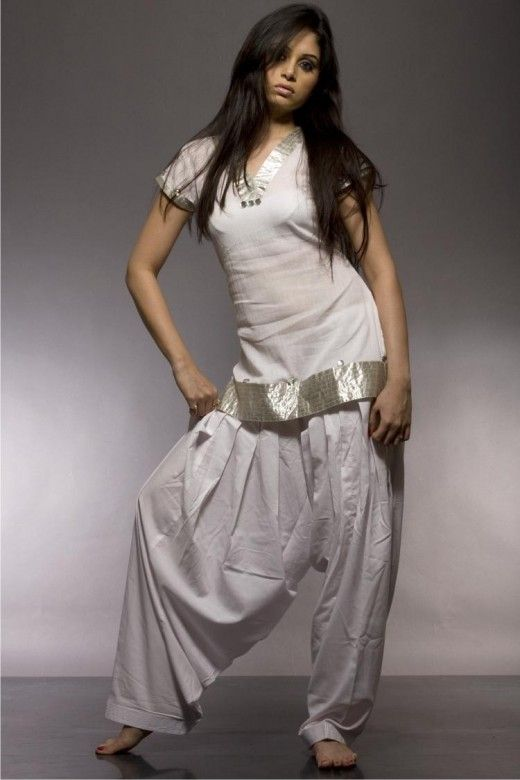 White Patiala Salwar Kameez