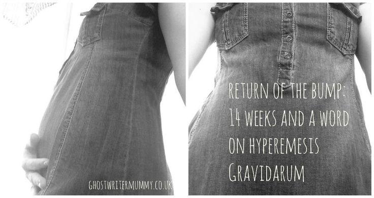 return of the bump: 14 weeks and a word on Hyperemesis Gravidarum~ ghostwritermummy.co.uk