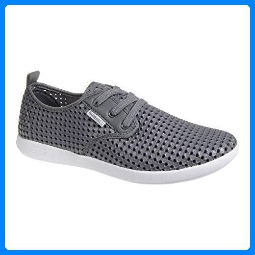 Holees Plimp Schnür Schuhe (Grau) - 44 - Slipper und mokassins für frauen (*Partner-Link)