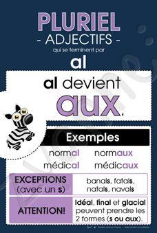 Pluriel - Adjectifs en « al »