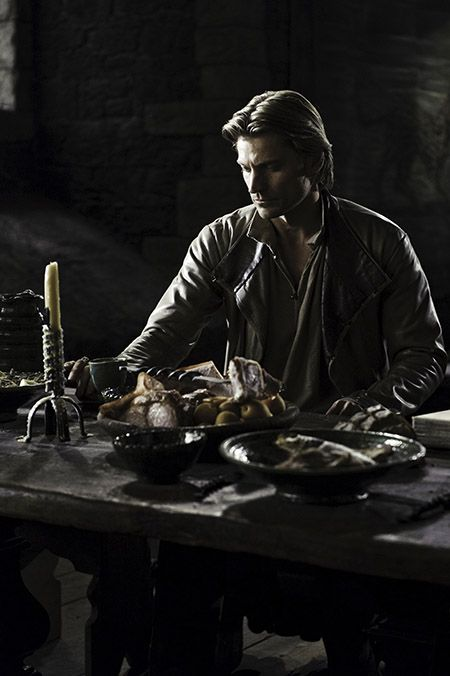 Great image, Jaime alone at the table where is family used to sit
