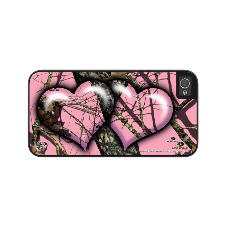 Airstrike® Camo Phone Case Mossy Oak Pink Hearts Camoflauge iPhone 5 Case, Camo iPhone 5s Case, Pink Camo iPhone 5 Case Protective Phone Case-50-8036