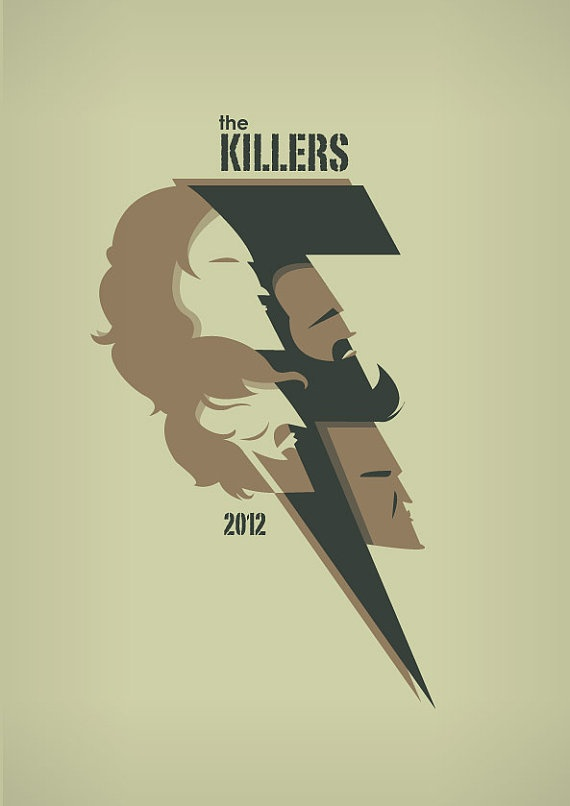 The Killers Battle Born Bolt  A4 Art Prints  by TorsoVertical, £10.00
