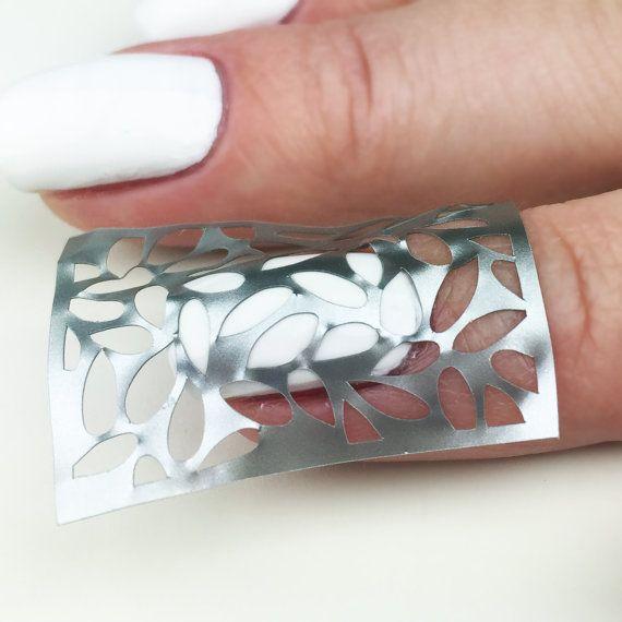Foliage design Nail Art Stencils  incredible nail art vinyls