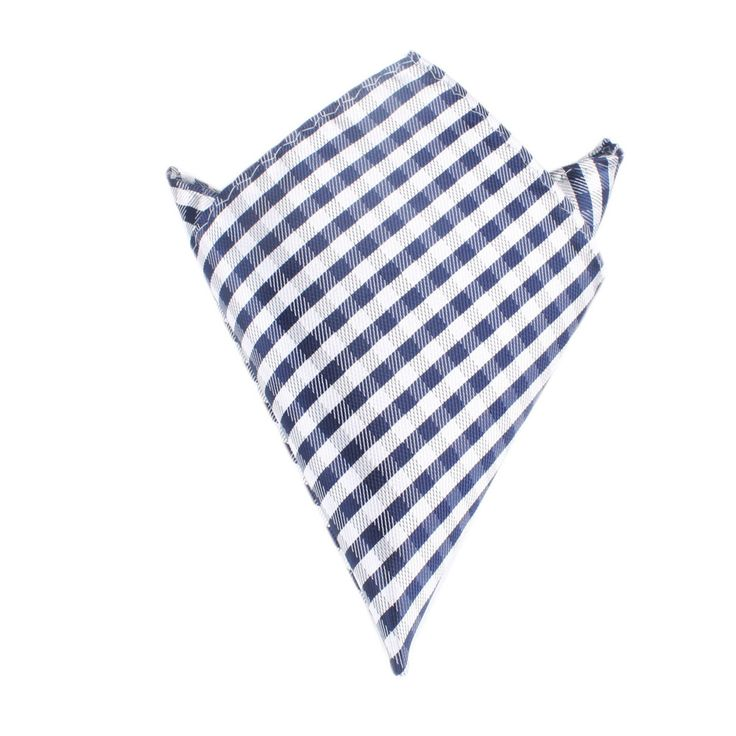 Navy Blue Gingham Pocket Square by OTAA | Suit Handkerchief & Men's Pocket Squares  | Online Ties and Accessories  Australia | www.otaa.com.au | OTAA