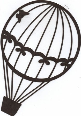 Hot air balloon with bows silhouette by hilemanhouse on Etsy