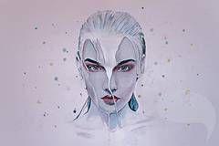 Obrazy - Nebula PRINT - 4141316_ watercolour portrait #watercolor #painting