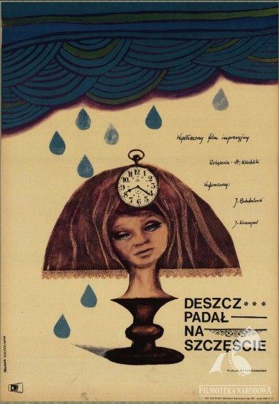 PRŠELO JIM ŠTĚSTÍ, dir.  Antonín Kachlík (GAPLA), Polish poster:  Jolanta Karczewska #gapla #poster, #autumn, #filmposter #polishposter