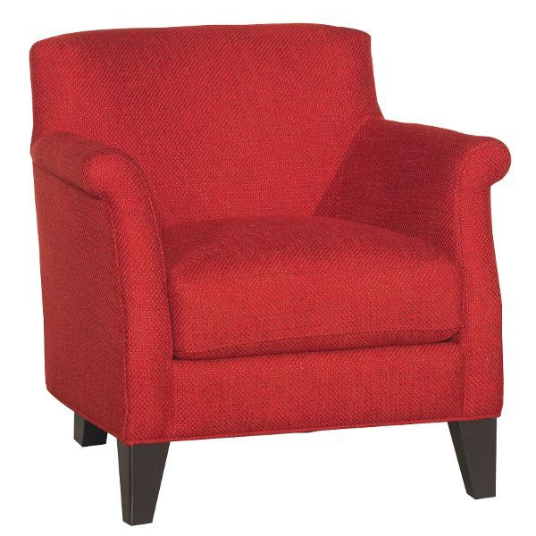 Classic Contemporary Crimson Red Accent Chair Kate In 2020 Red