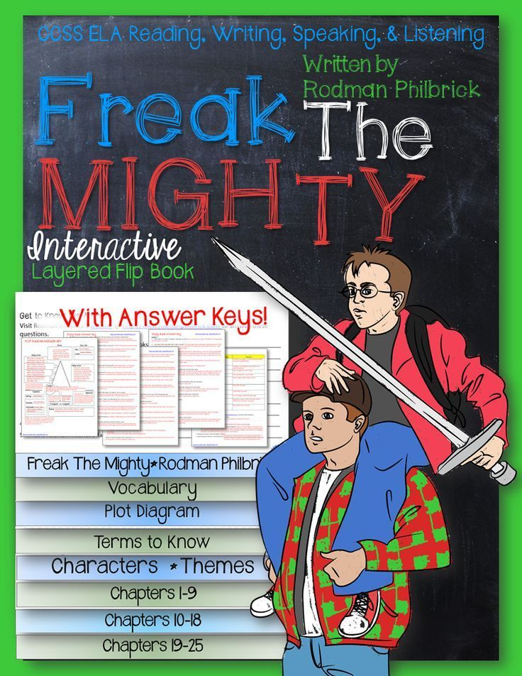 freak the mighty by rodman philbrick essay The character kevin in freak the mighty - many people struggle to be accepted in our world because of disabilities freak the mighty, by rodman philbrick, is a dramatic and inspiring novel about how two boys, who are different, become friends and unite towards a common cause.