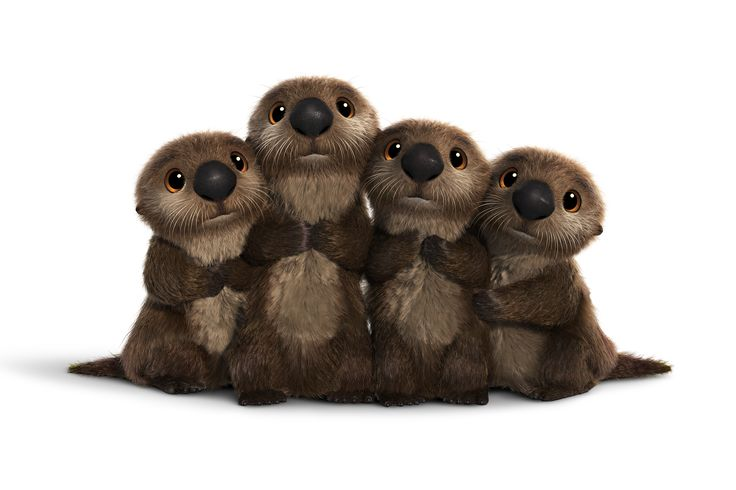 The otters are SO CUTE !!  See Ed O'Neill's Hank and Other New Characters from Finding Dory