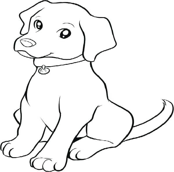 Puppy Coloring Sheet