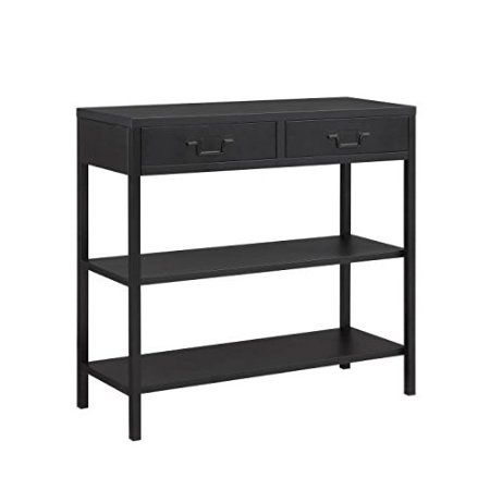 camden console en m tal 90 cm noir laqu meuble entree pinterest consoles. Black Bedroom Furniture Sets. Home Design Ideas