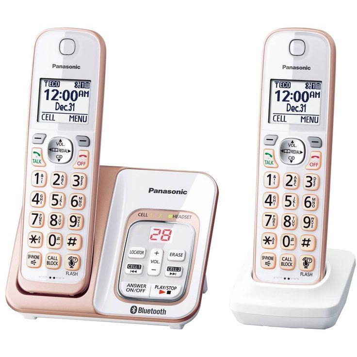 Panasonic Link2Cell Bluetooth Cordless Phone White