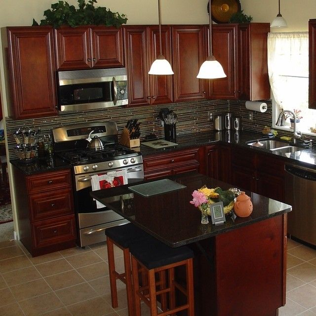 Dark Mahogany Kitchen Cabinets: 1000+ Images About Home Remodeling Ideas On Pinterest