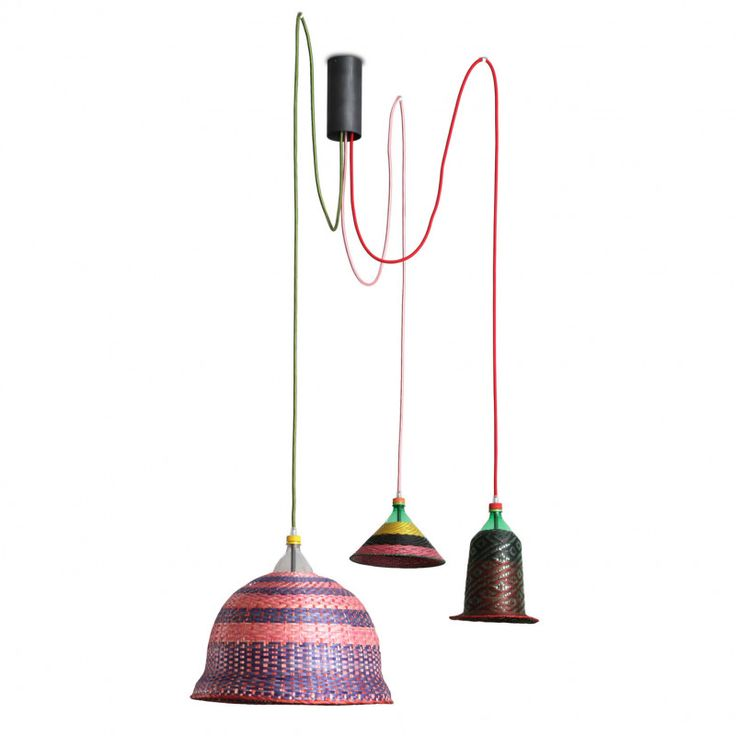 This PET Lamp ES Set of 3 Assorted lampshades is part of the Eperara-Siapidara collection from Bogotá, Colombia. Contemporary by design the PET Lamp is made using ancient artisan textile traditions. Each lamp is unique, from the colour, pattern and cord selected. The idea to design the PET Lamp grew from a project which wanted to resolve the issue of plastic waste contaminating the Colombian Amazon. Thus converting the plastic bottle an object with a short and specific lifespan into a…