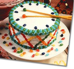 Rat-a-Tat-Tat Drum Cake
