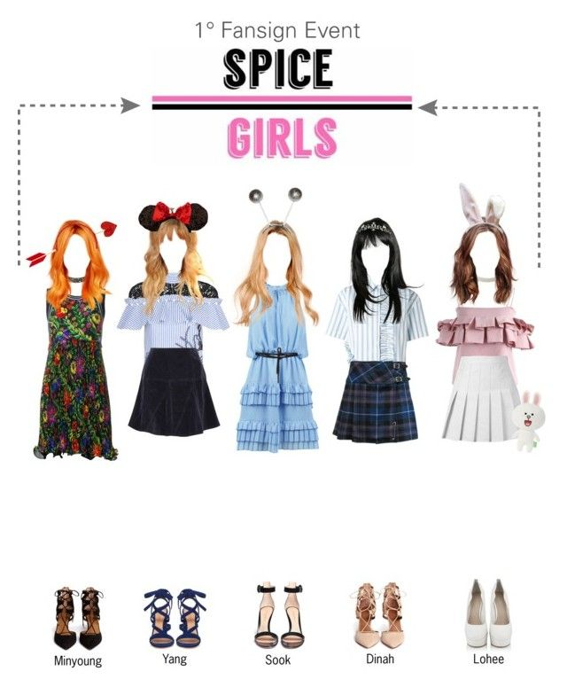 """""""SPICE GIRLS 1° Fansign Event"""" by spicegirls-official ❤ liked on Polyvore featuring Chicwish, Charlotte Russe, Sandro, self-portrait, MSGM, Tomas Maier, 3.1 Phillip Lim, Carvela Kurt Geiger, Aquazzura and Gianvito Rossi"""