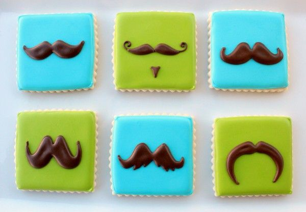 Moustache Cookies from @Callye Alvarado - @sweetsugarbelle really FUN!!!