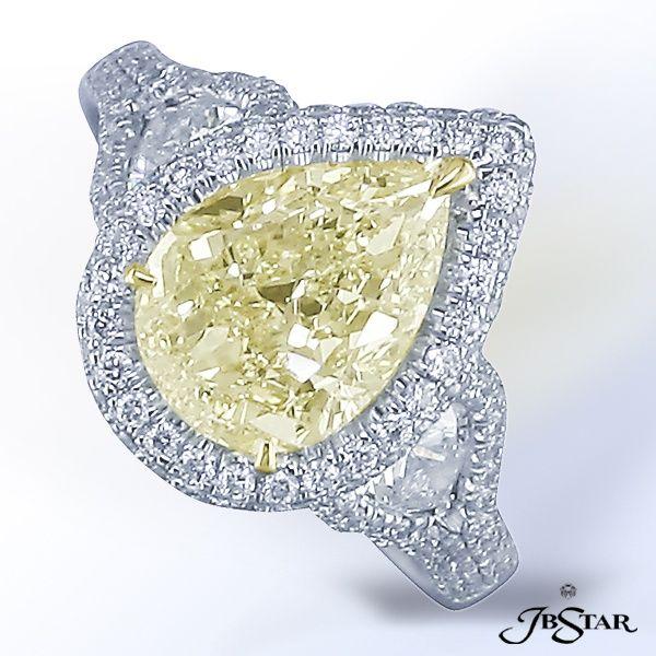 JB Star yellow pear shaped diamond engagement ring