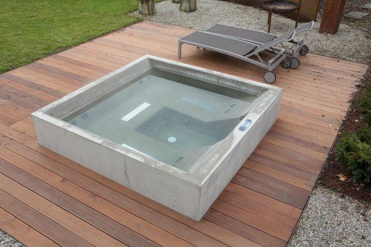 83 best terraza images on Pinterest Decks, Small swimming pools - couler une terrasse en beton