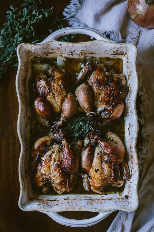 Roasted Pomegranate-Marinated Cornish Game Hens With Cippolini And ...