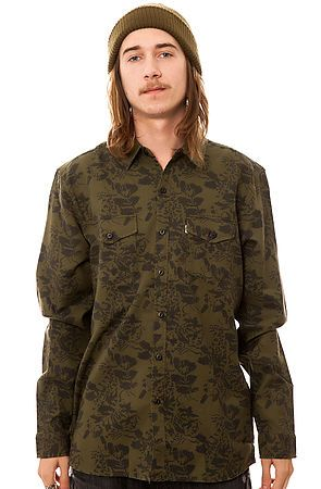 The Skate Wagoneer Buttondown Shirt in Floral Camo by Levis Skateboarding Collection