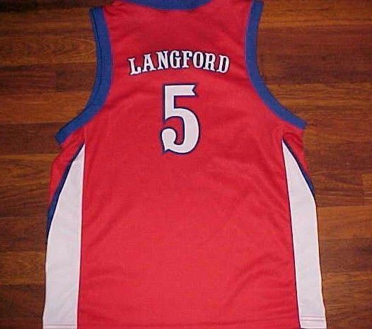 Keith Langford 5 Kansas Jayhawks Big 12 NCAA OT Sports Youth Red Jersey XL #OTSports #KansasJayhawks