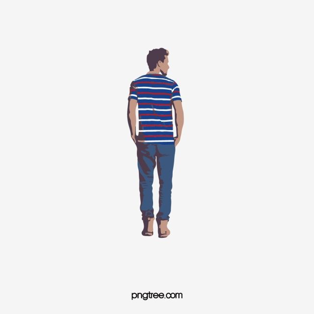 On The Back Of Foreign Male Model Man Standing Image Back Foreign Png And Vector With Transparent Background For Free Download Male Model Man Standing Model