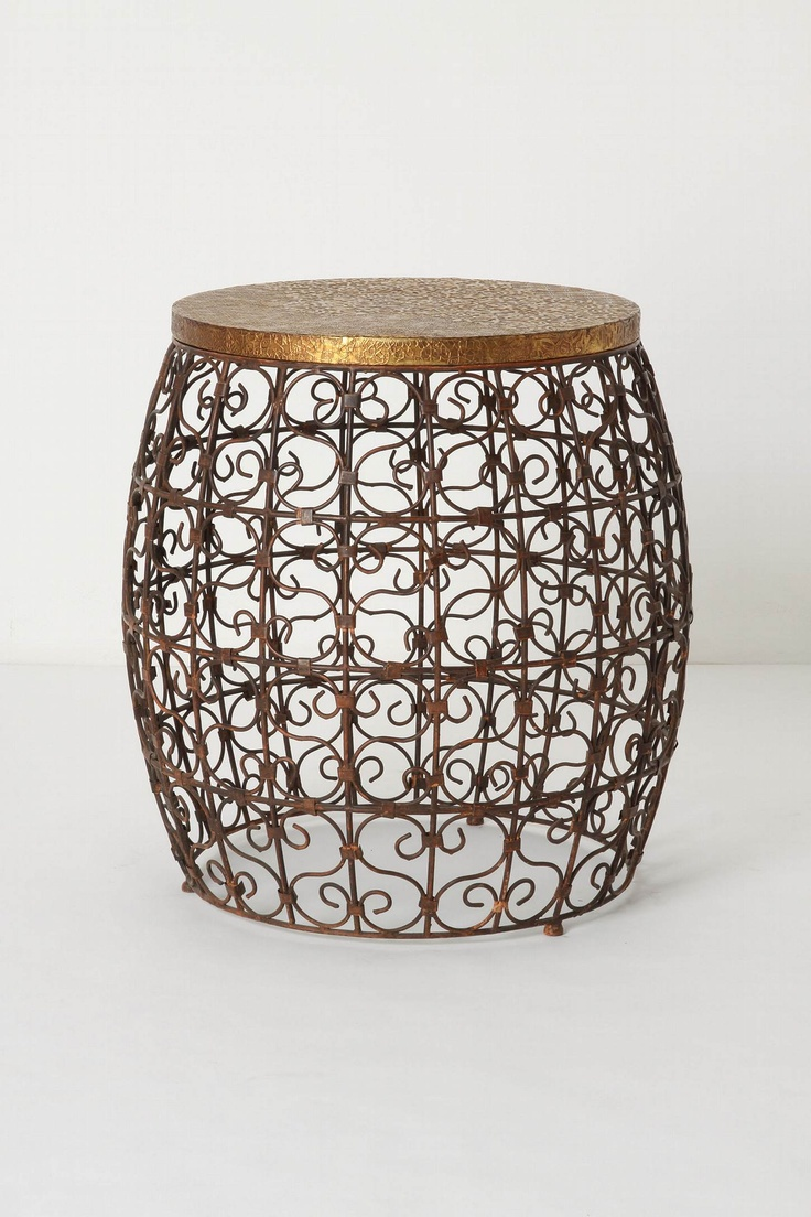 124 best table bases images on pinterest table bases iron table cascara side table an embossed brass top caps off the coppery sinews of this handmade barrel shaped table with time this piece will take on a lovely geotapseo Gallery