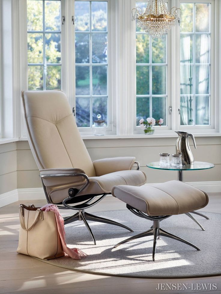 City Stressless Recliner. Contemporary Furniture ...