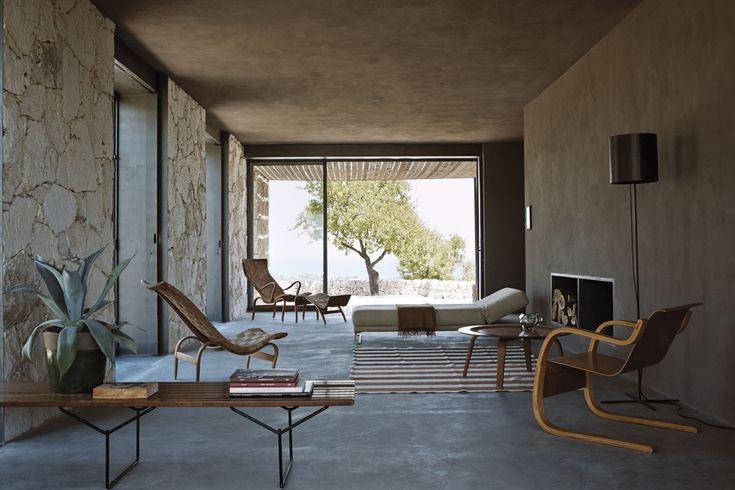 "Elle Decor Jan/Feb 2013 –  Mid Century Modern – Bruno Mathson ""Pernilla"" Chairs (left) Alvar Aalto chair (right)"