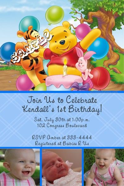 28 best Winnie the Pooh Birthday Party images – Tigger Birthday Party Invitations