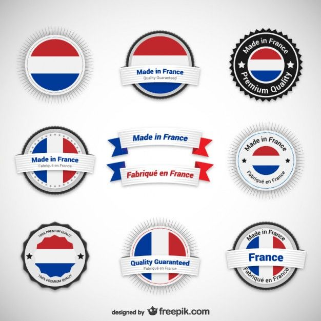Made in France Labels Free Vector