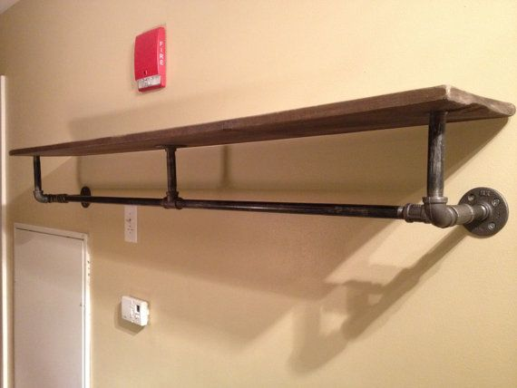 Industrial Pipe and Wood Shelving on Etsy, $140.00