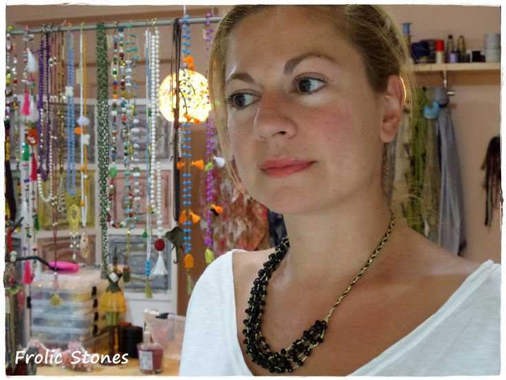 Handmade necklace crystal beads