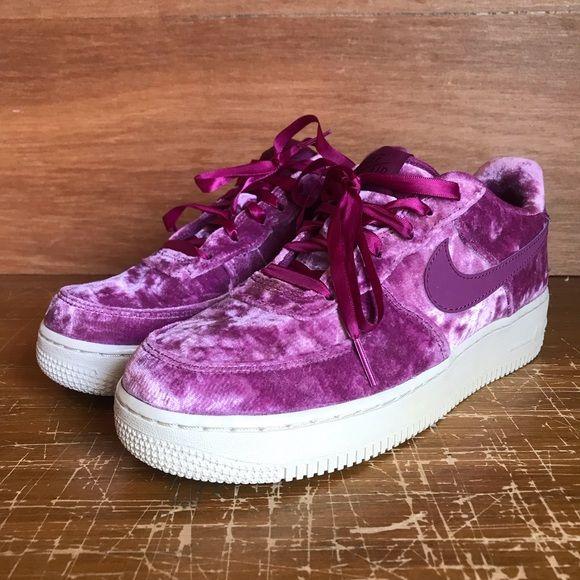 nike air force purple velvet