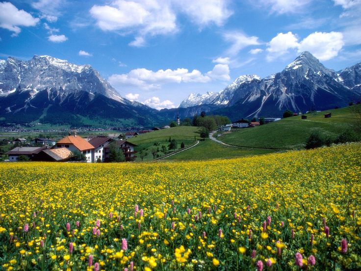 Northern French countryside.  Doesn't it look like it's straight out of the Sound of Music?  via University of Notre Dame