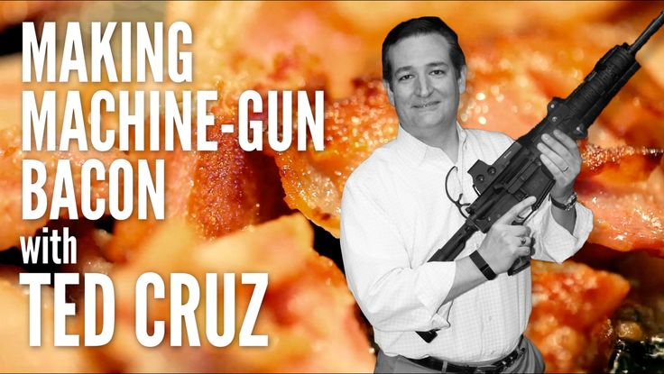 Making Machine-Gun Bacon with Ted Cruz...because, above all else, a presidential candidate must have dignity.