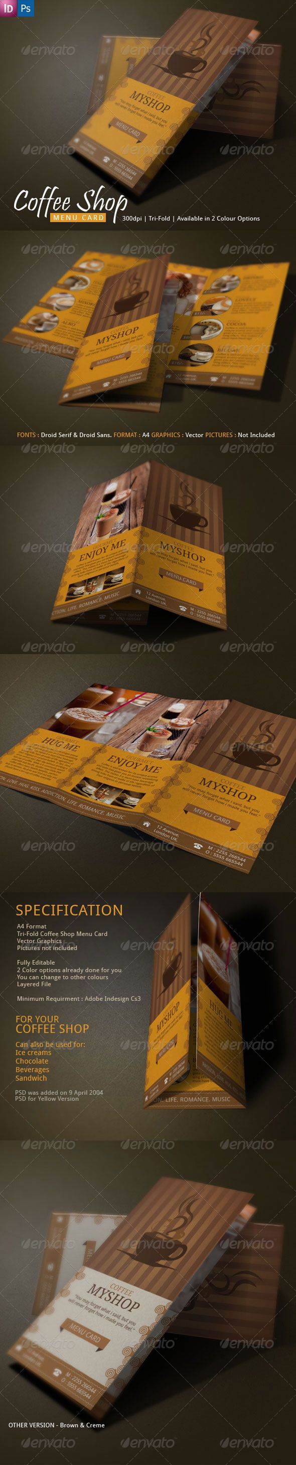 Best Coffee Tri Fold Brochure Template Images On