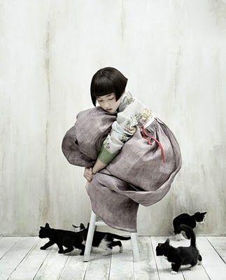 Kim Kyung Soo, shot for Korean Vogue.: Little Girls, Fashion, Korean Vogue, Voguekorea, Kittens, Kim Kyung, Vogue Korea, Black Cat, Cat Photos