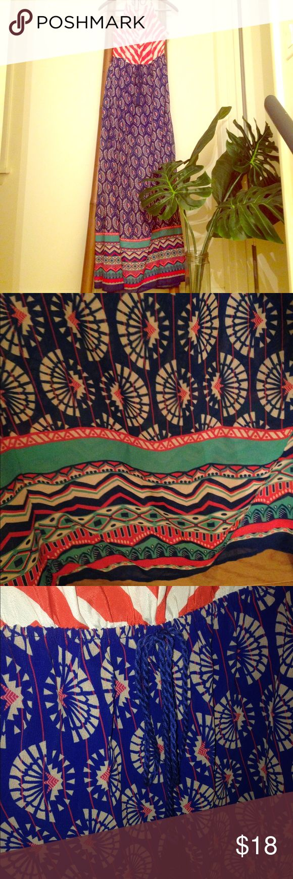 Tribal maxi dress This maxi combines comfort and style to create an effortless beach look! All you need is a tan and espadrilles to set it off! Size large but runs a bit small. Dresses Maxi